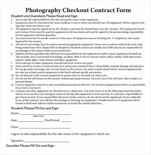 Free Wedding Photography Contract Template Beautiful 20 Graphy Contract Template