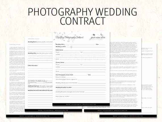 Free Wedding Photography Contract Template Elegant Wedding Graphy Contract Business forms butterfly Flowers