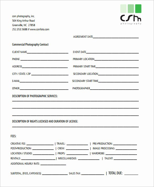 Free Wedding Photography Contract Template Unique Graphy Contract Template – 10 Free Word Pdf