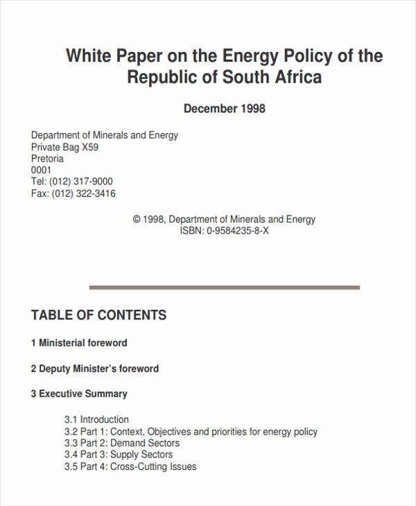 Free White Paper Template Fresh 49 White Paper Templates