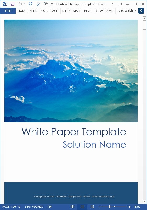 Free White Paper Template Inspirational White Papers – Ms Word Templates & Free Tutorials