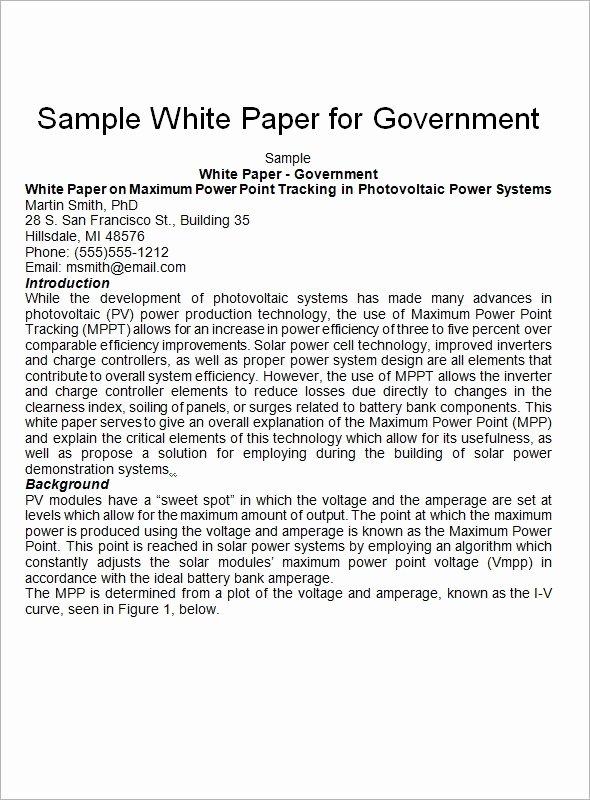 Free White Paper Template Unique Free 12 White Paper Templates In Pdf