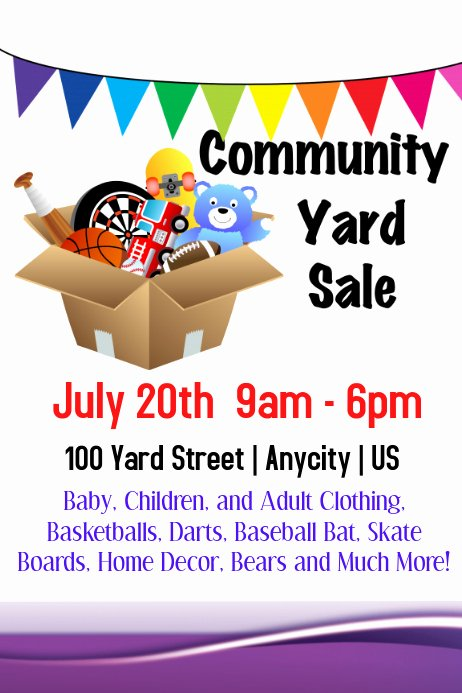 Free Yard Sale Flyer Template Awesome Munity Yard Sale Template