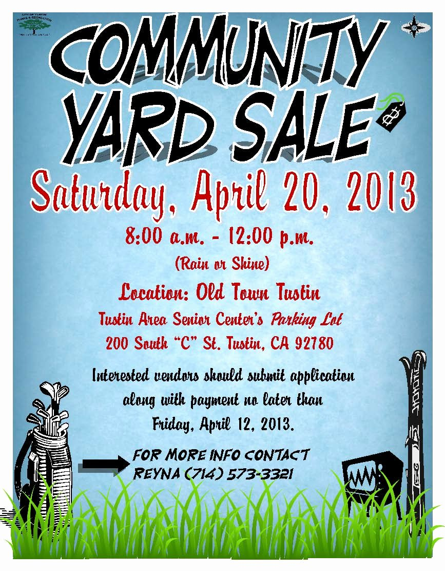Free Yard Sale Flyer Template Awesome Tustin Residents Action Mittee