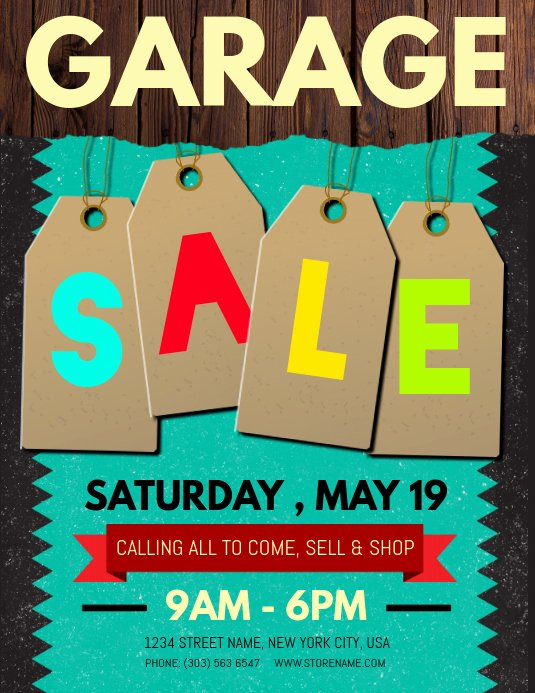 Free Yard Sale Flyer Template Beautiful Customize 740 Garage Sale Templates