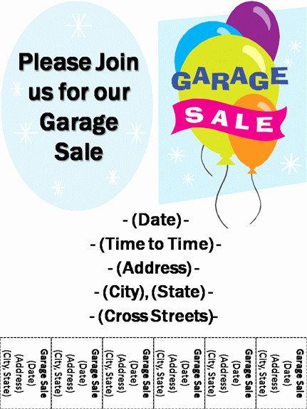 Free Yard Sale Flyer Template Beautiful Garage Sale Flyer Template Driverlayer Search Engine