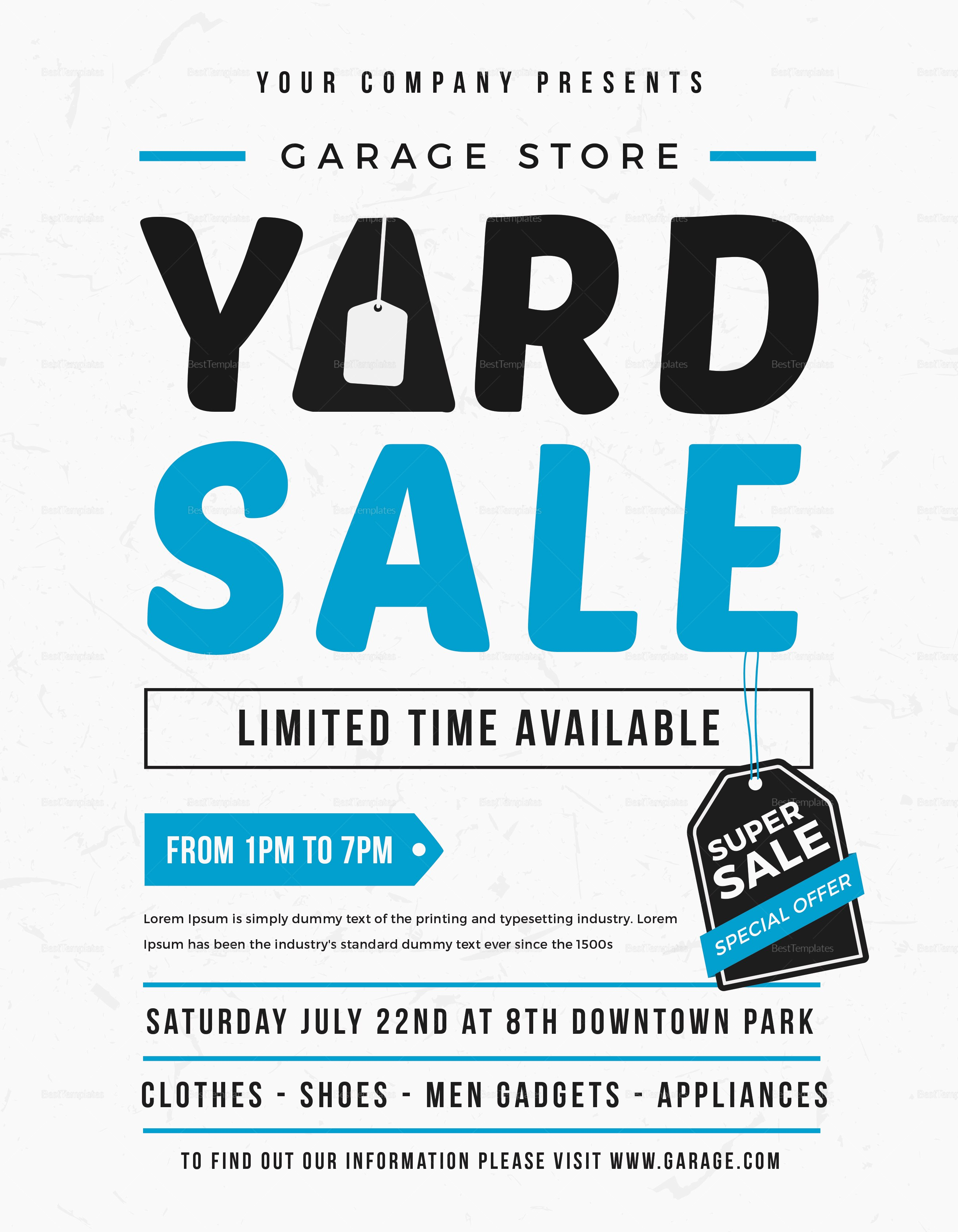 Free Yard Sale Flyer Template Best Of Unique Yard Sale Flyer Design Template In Word Psd