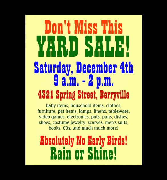 Free Yard Sale Flyer Template Elegant 21 Best Yard Sale Flyer Templates & Psd Word Eps