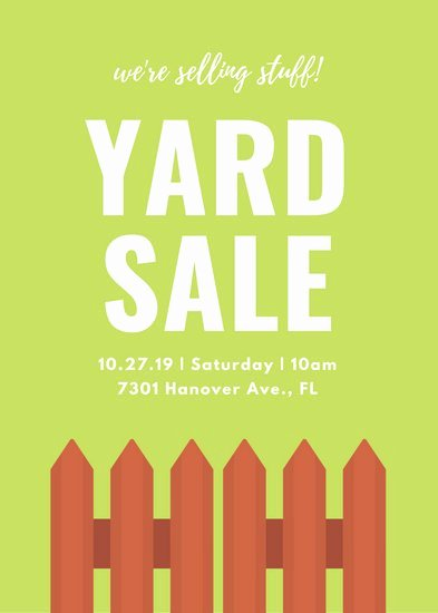 Free Yard Sale Flyer Template Elegant Customize 281 Yard Sale Flyer Templates Online Canva
