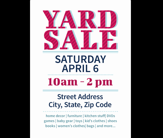 Free Yard Sale Flyer Template Elegant Download This Yard Sale Flyer Template and Other Free