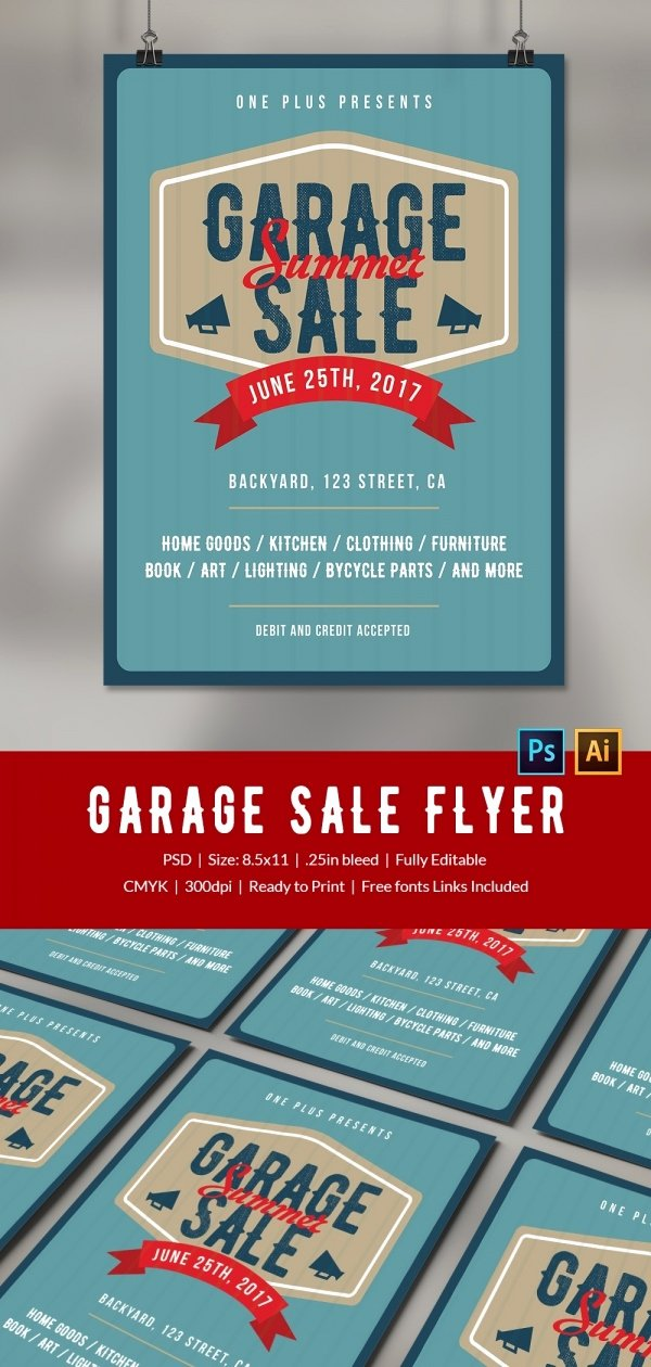 Free Yard Sale Flyer Template Fresh 14 Best Yard Sale Flyer Templates & Psd Designs