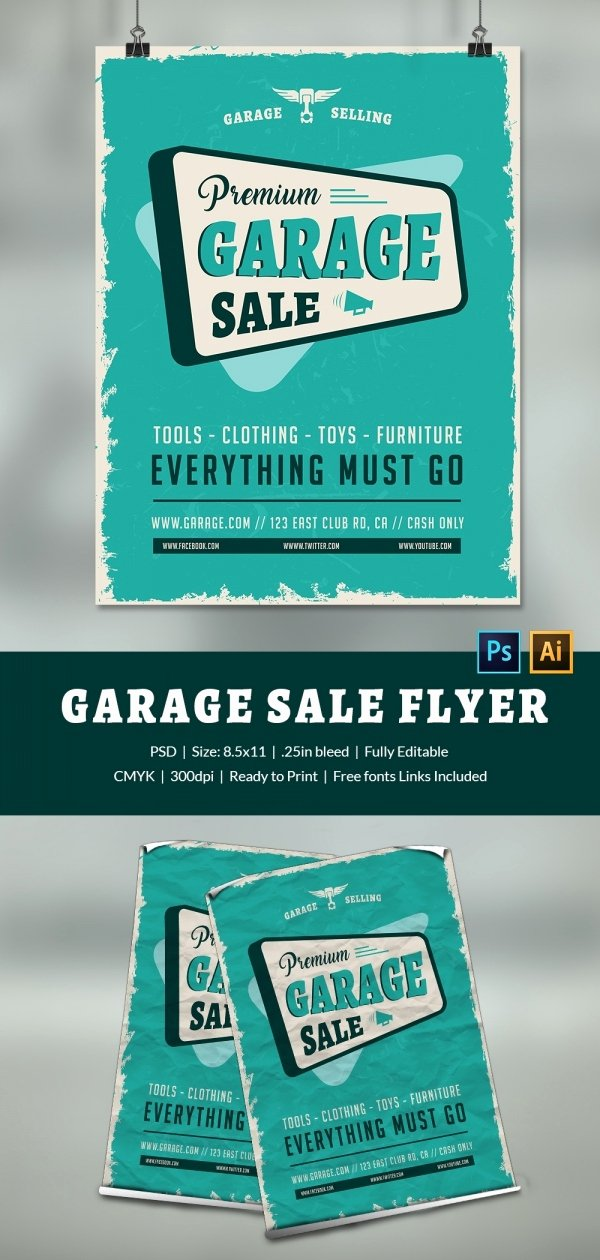 Free Yard Sale Flyer Template Luxury 14 Best Yard Sale Flyer Templates & Psd Designs