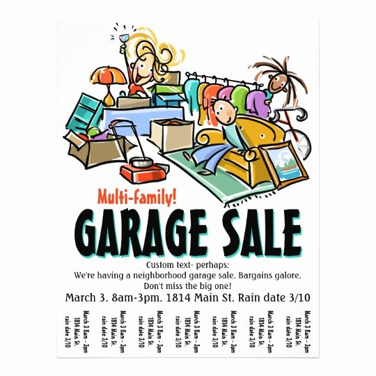 Free Yard Sale Flyer Template New Garage Sale Moving Sale Yard Sale Custom Flyer