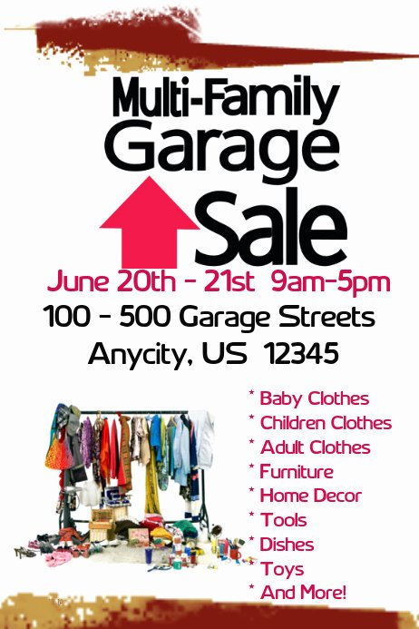 Free Yard Sale Flyer Template New Muirli Family Garage Sale Template