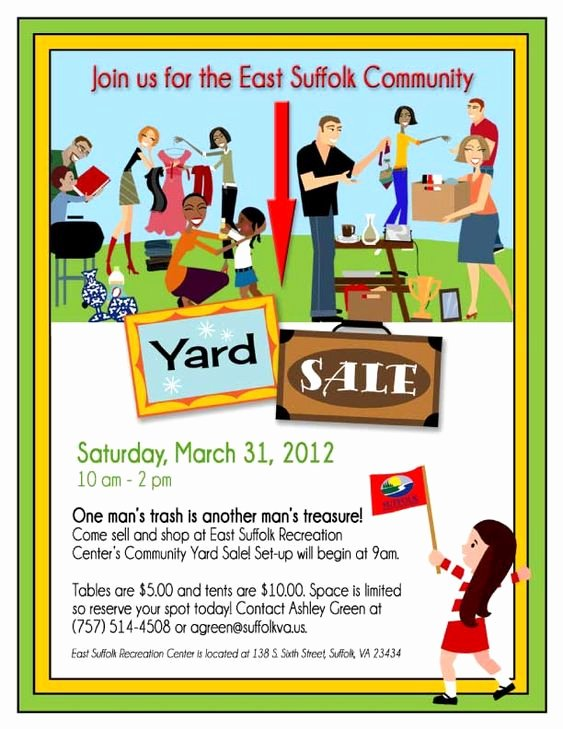Free Yard Sale Flyer Template Unique 14 Garage Sale Flyers 5