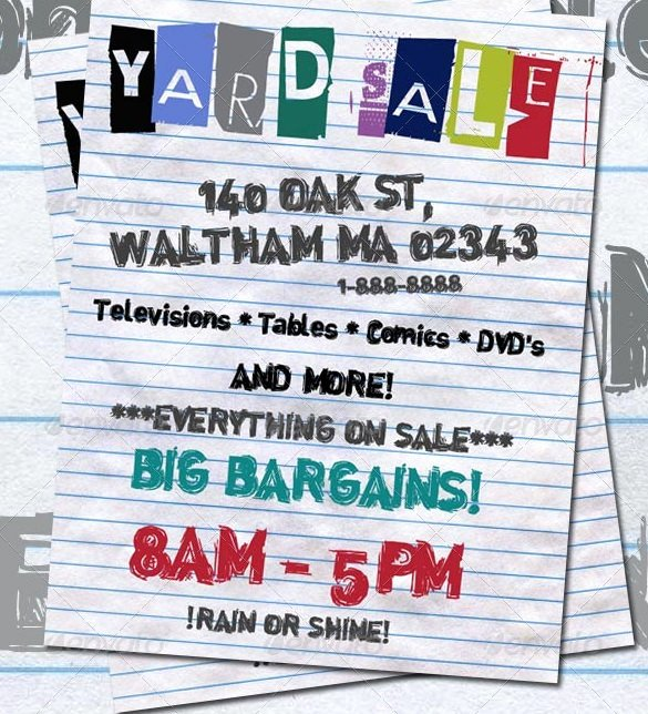 Free Yard Sale Flyer Template Unique Afefa