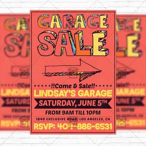 Free Yard Sale Flyer Template Unique Garage Sale – Premium Flyer Template Instagram Size