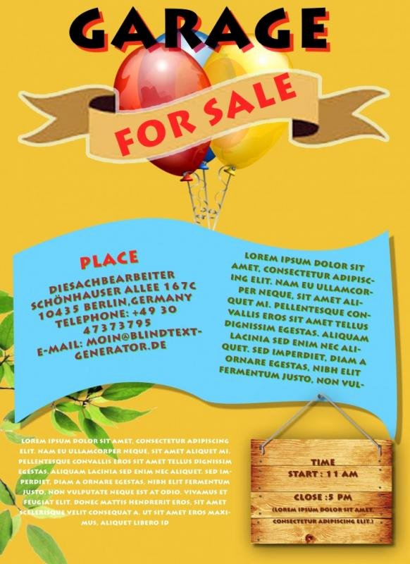 Free Yard Sale Flyer Template Unique Yard Sale Flyer Template