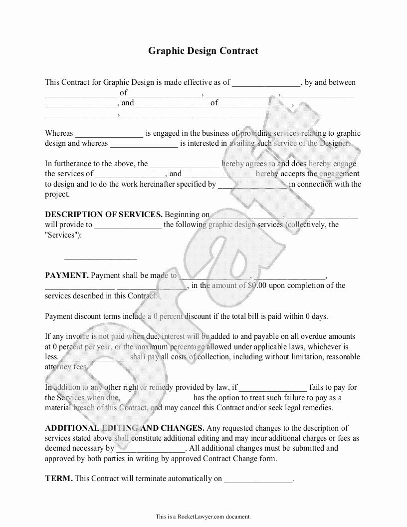 Freelance Graphic Design Proposal Template Awesome Make A Quick Legal Doc for Contracting Quick
