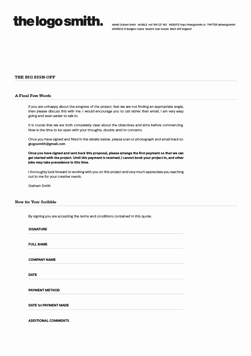 Freelance Graphic Design Proposal Template Beautiful Freelance Logo Design Proposal and Invoice Template for