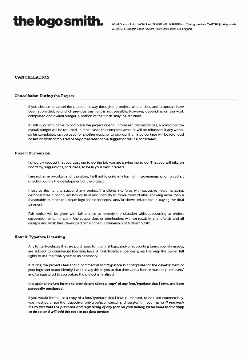 Freelance Graphic Design Proposal Template Fresh Freelance Logo Design Proposal and Invoice Template for