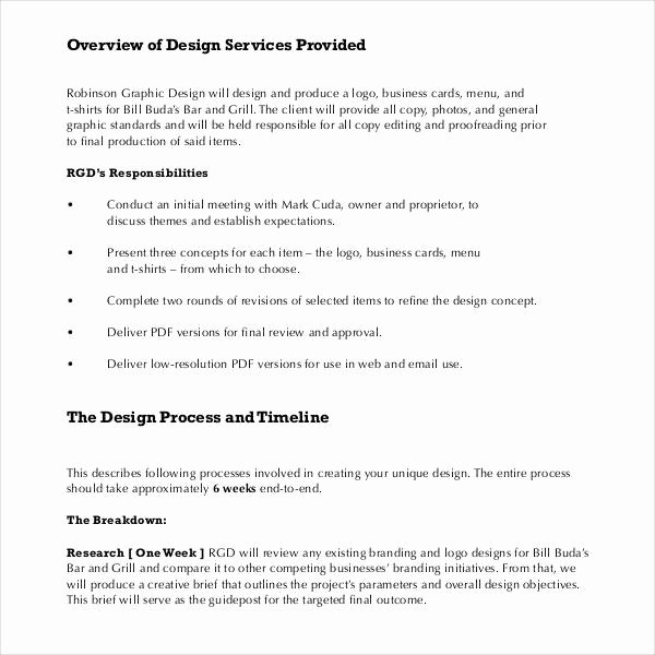 Freelance Graphic Design Proposal Template Inspirational Sample Graphic Design Proposal Template 10 Free