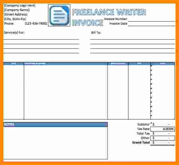 Freelance Writer Invoice Template Best Of 6 Freelance Writer Invoice Template