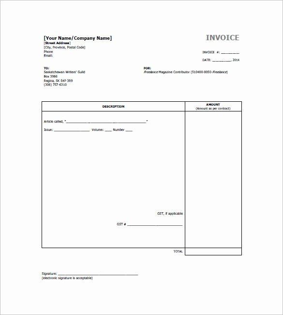 Freelance Writer Invoice Template Inspirational Freelancer Invoice Template 15 Free Word Excel Pdf