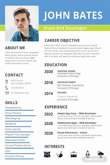 Front End Developer Resume Template Elegant Free Resume Templates Download Ready Made