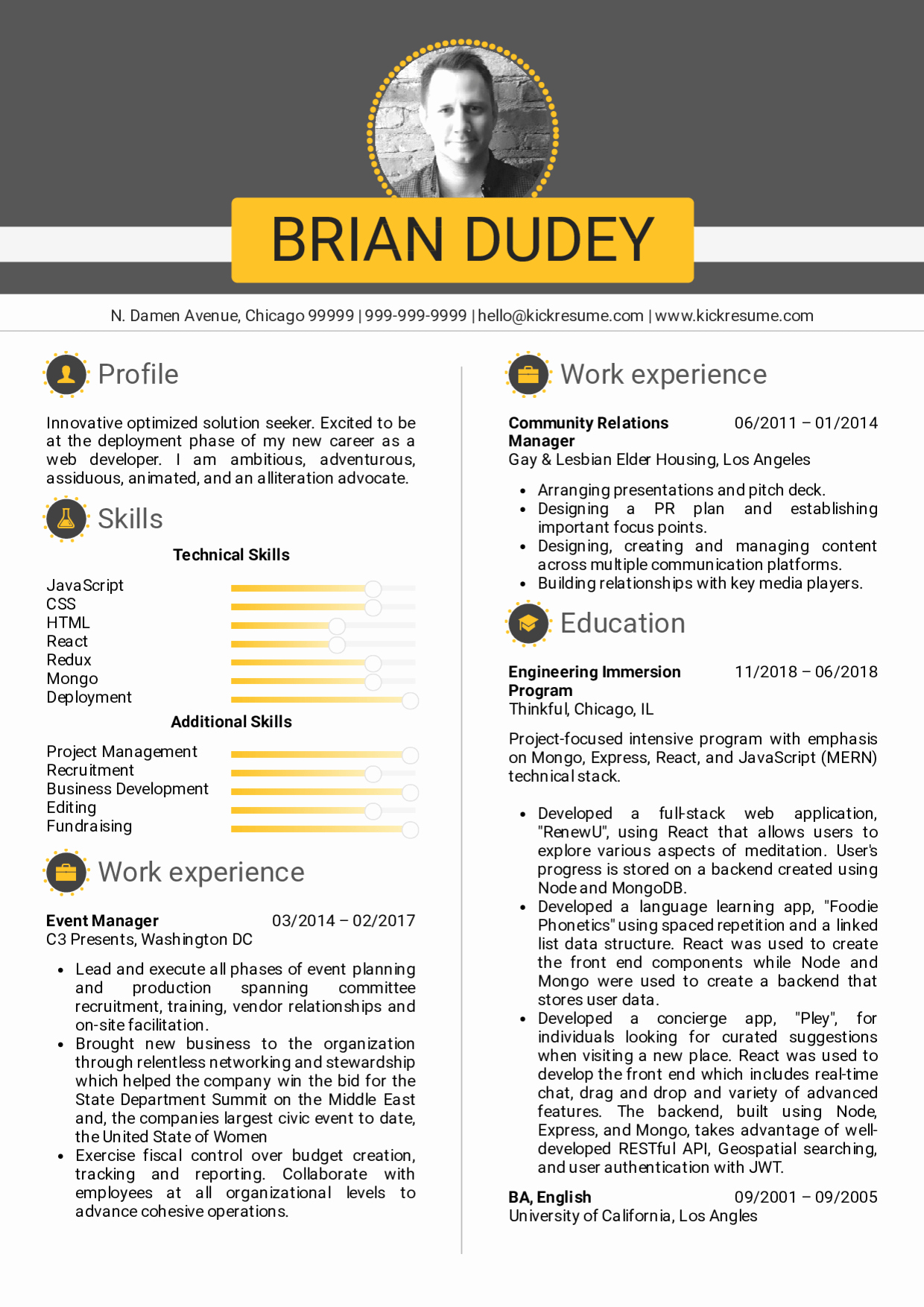 Front End Developer Resume Template New Resume Examples by Real People Full Stack Developer Cv