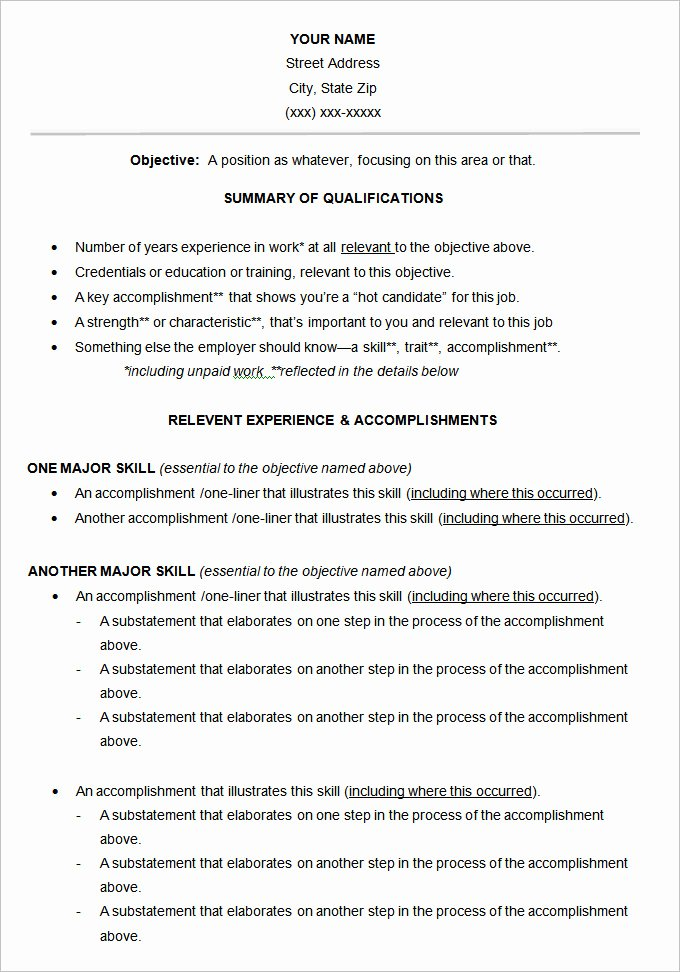 Functional Resume Template Free Awesome Functional Resume Template – 15 Free Samples Examples