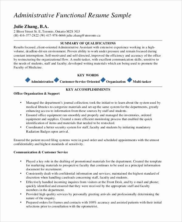 Functional Resume Template Free Elegant 10 Functional Resume Templates Pdf Doc