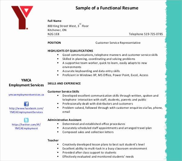Functional Resume Template Free Fresh 10 Functional Resume Templates Pdf Doc