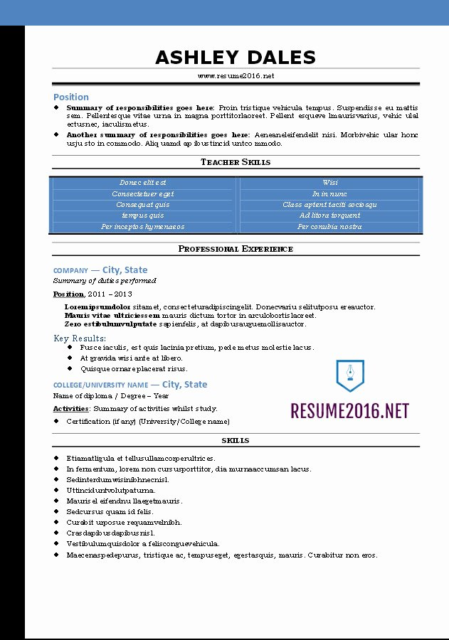 Functional Resume Template Free Lovely Word Resume Templates 2016