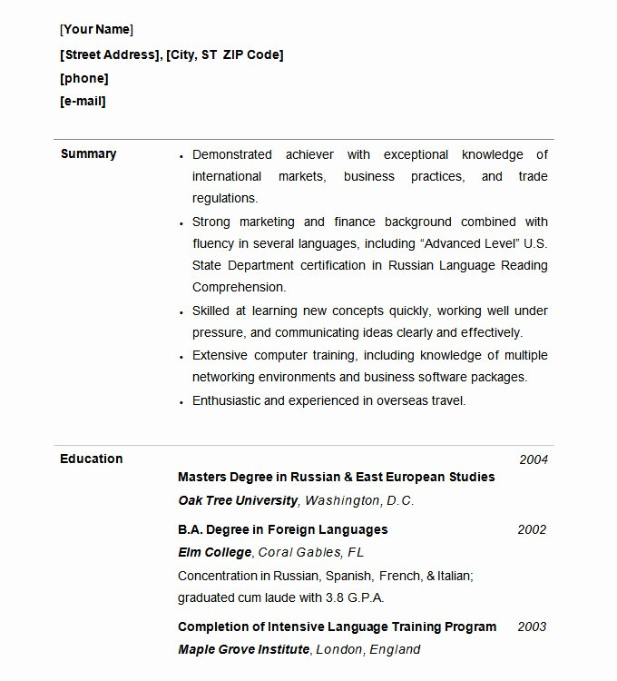 Functional Resume Template Free New Functional Resume Template – 15 Free Samples Examples