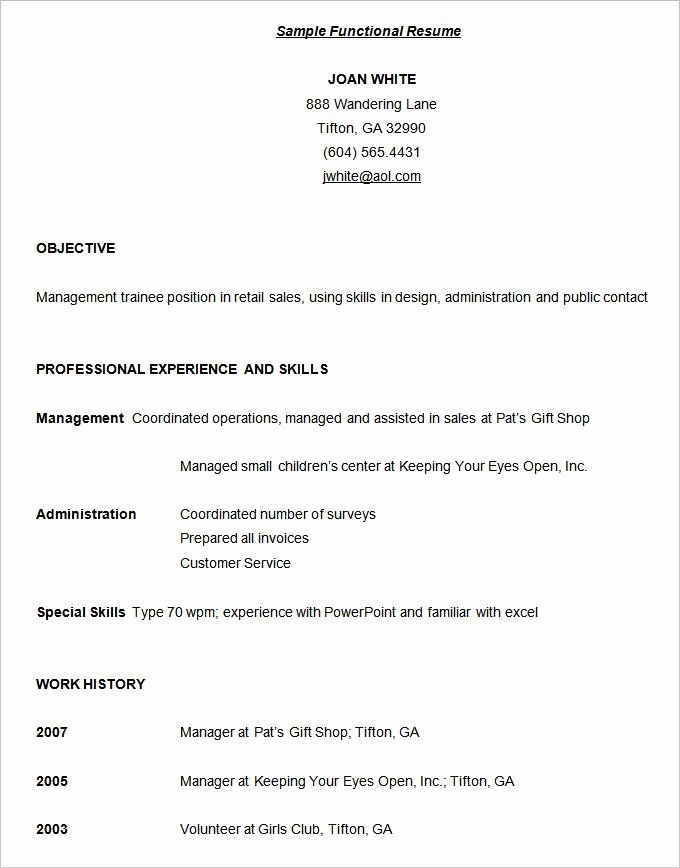 Functional Resume Template Word Awesome 10 Functional Resume Templates