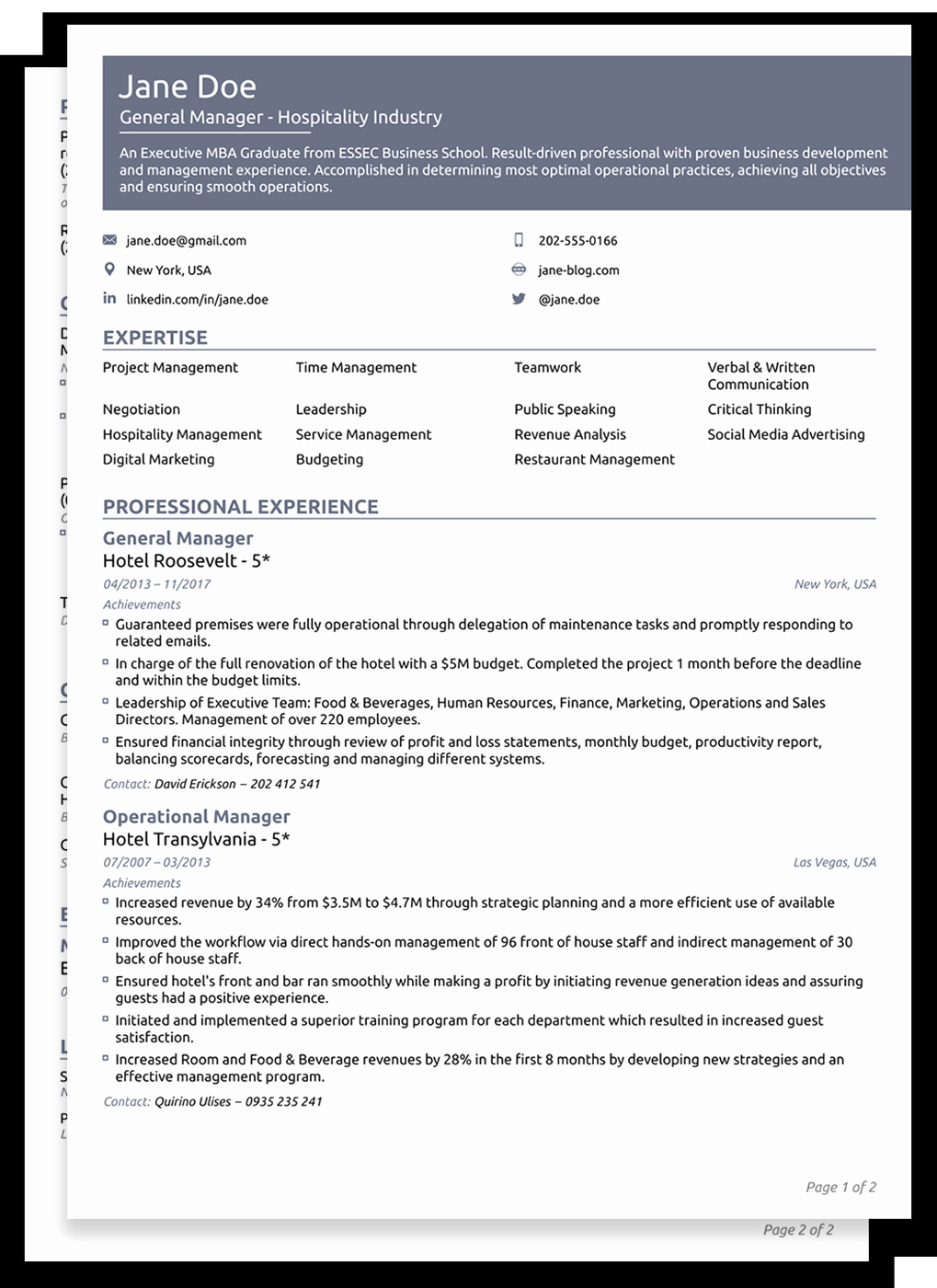 Functional Resume Template Word Best Of 8 Cv Templates for 2019 1 Edit & Download