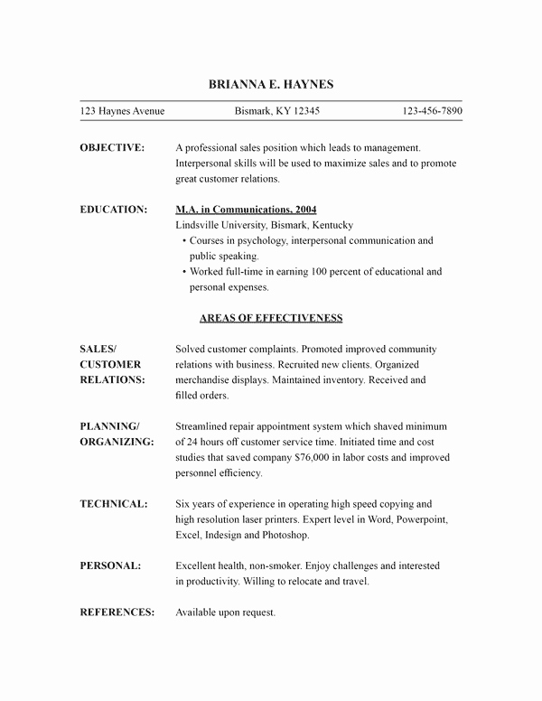 Functional Resume Template Word Inspirational Functional Resume Template Word Image – Download