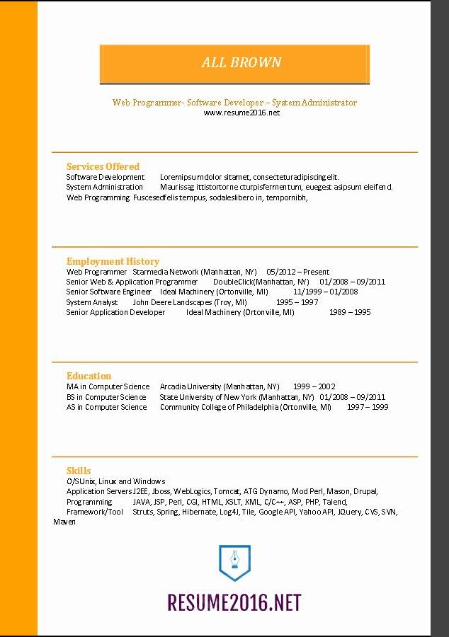 Functional Resume Template Word New Word Resume Templates 2016