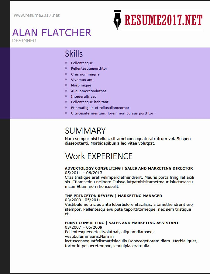 Functional Resume Templates Word Awesome Resume format 2018 16 Latest Templates In Word