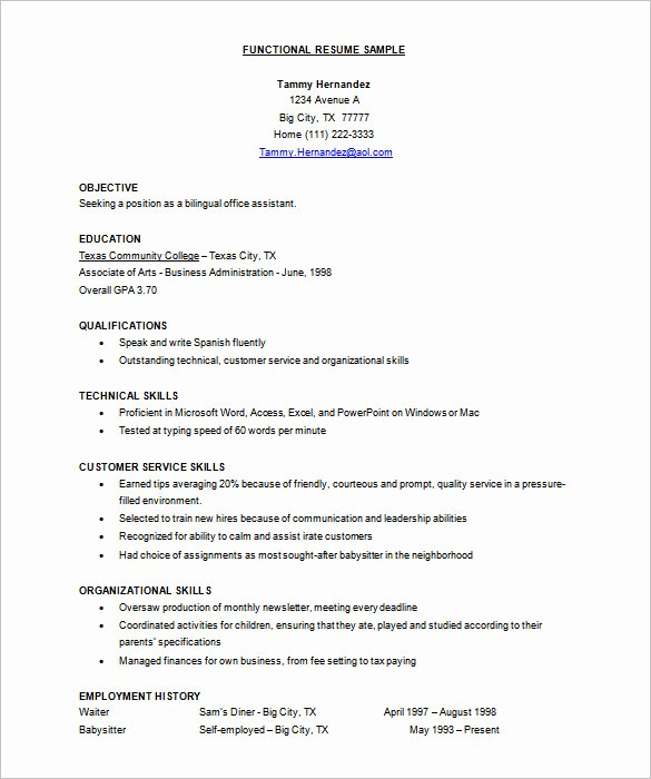 Functional Resume Templates Word Best Of Resume Template – 92 Free Word Excel Pdf Psd format