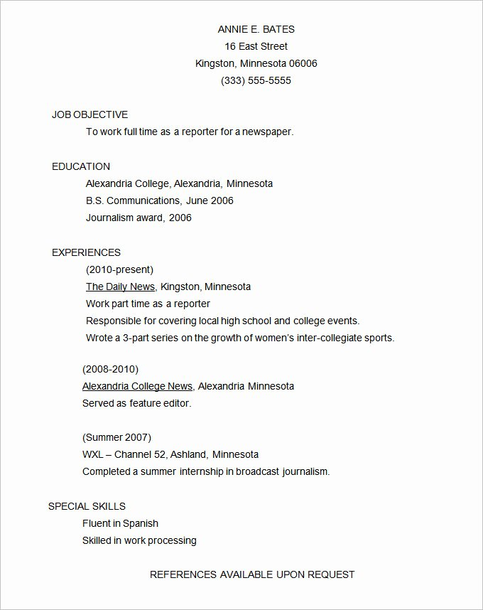 Functional Resume Templates Word Luxury Functional Resume Template – 15 Free Samples Examples