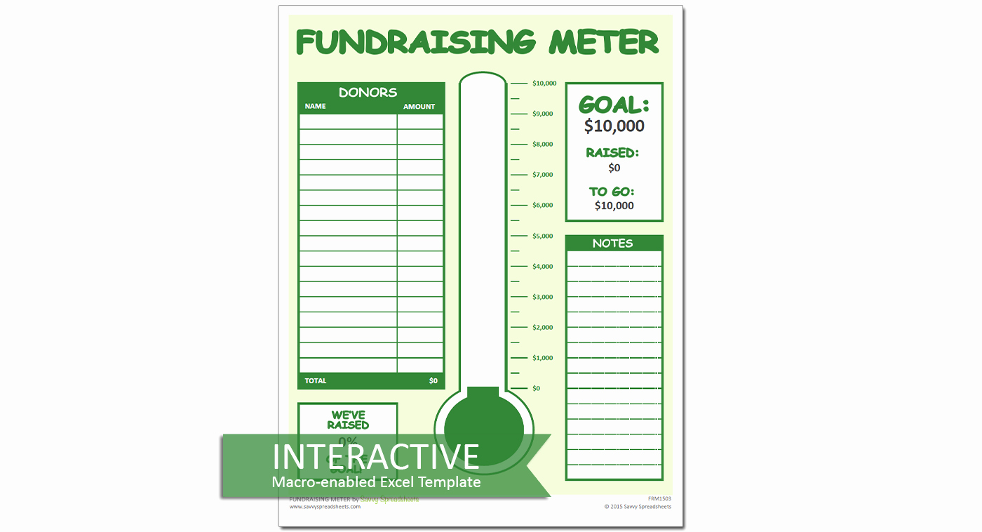 Fundraiser form Template Free Best Of Fundraiser Tracking Spreadsheet