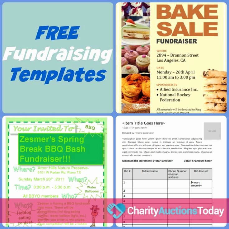 Fundraiser form Template Free Unique Free Fundraiser Flyer