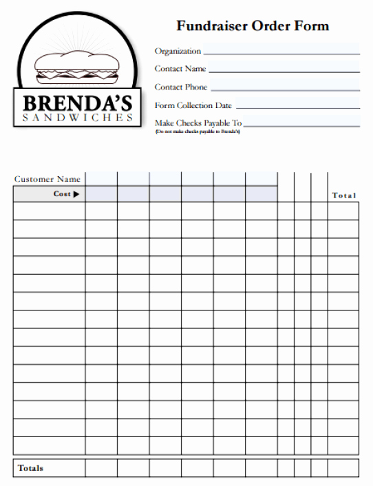 Fundraiser order form Template Free Beautiful 6 Fundraiser order form Templates Website Wordpress Blog