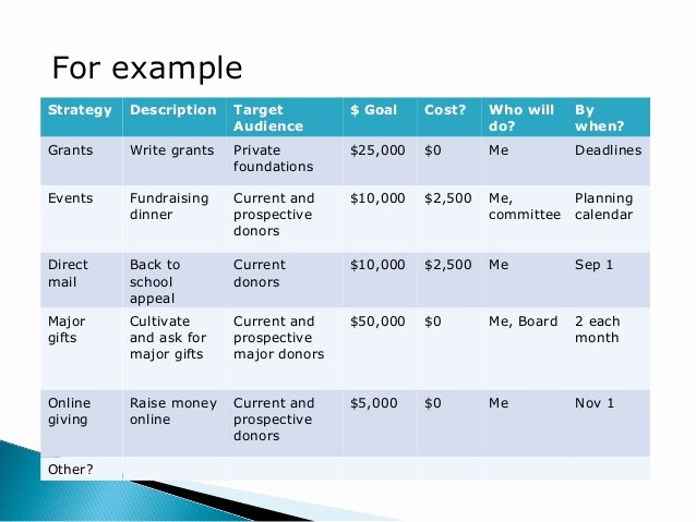 Fundraising Plan Template Excel Awesome 6 Simple Steps to Creating A Written Fundraising Plan
