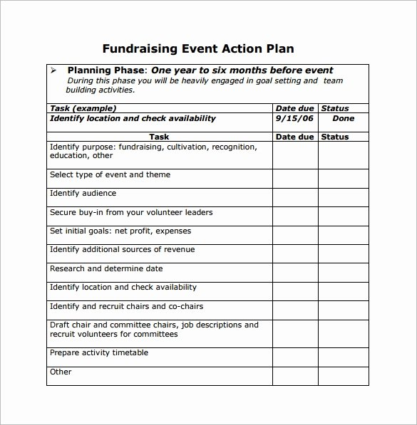 Fundraising Plan Template Excel Beautiful event Planning Template 11 Free Documents In Word Pdf Ppt