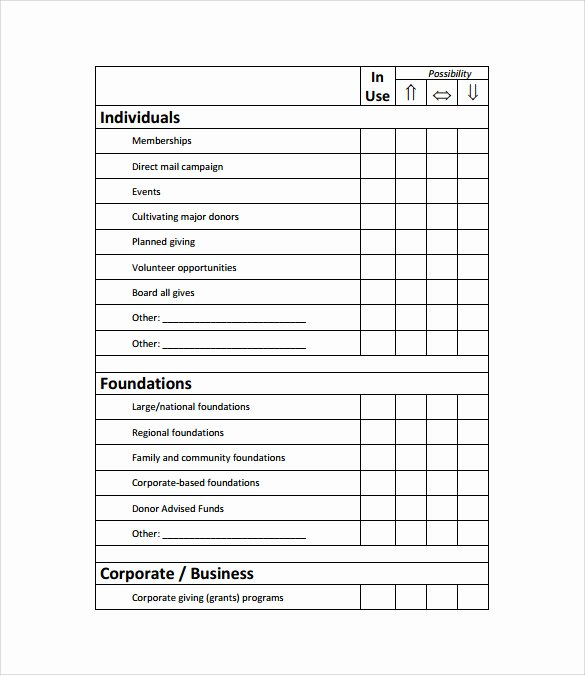 Fundraising Plan Template Excel Beautiful Sample Fundraising Plan 11 Documents In Word Pdf