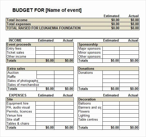 Fundraising Plan Template Excel Best Of Pin by Arriane Faye Marino On event Bud Template