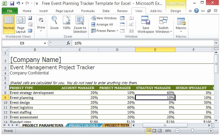 Fundraising Plan Template Excel Elegant Free event Planning Tracker Template for Excel